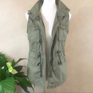 {Old Navy} Army Green Utility Vest Size XS